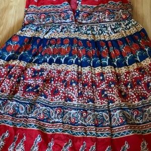 American Apparel Dresses - Floral and paisley stretchy maxi dress large